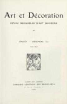 Art et décoration : revue mensuelle d'art moderne 1922, Tome XLII, Juillet-Décembre