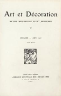 Art et décoration : revue mensuelle d'art moderne. 1923, Tome XLIII Janvier-Juin