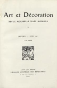 Art et Décoration : revue mensuelle d'art moderne. 1921