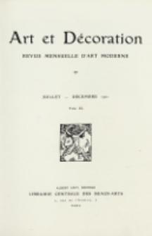 Art et décoration : revue mensuelle d'art moderne 1921, Tome XL Juillet-Decémbre