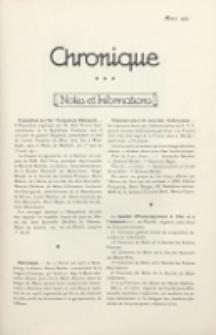 Art et Décoration : revue mensuelle d'art moderne. 1921 Chronique, mars