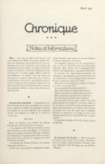 Art et Décoration : revue mensuelle d'art moderne. 1921 Chronique, avril