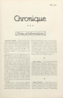 Art et Décoration : revue mensuelle d'art moderne. 1921 Chronique, mai