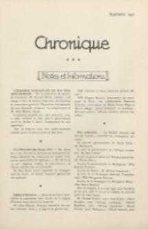 Art et Décoration : revue mensuelle d'art moderne. 1921 Chronique, septembre