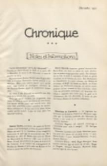 Art et Décoration : revue mensuelle d'art moderne. 1921 Chronique, décembre