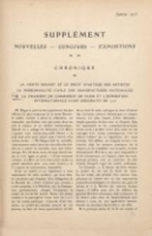 Art et décoration : revue mensuelle d'art moderne. 1913 Supleément Chronique, janvier