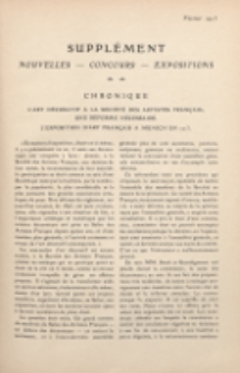 Art et décoration : revue mensuelle d'art moderne. 1913 Supleément Chronique, février