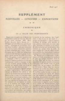Art et décoration : revue mensuelle d'art moderne. 1913 Supleément Chronique, avril