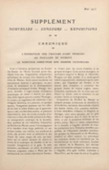 Art et décoration : revue mensuelle d'art moderne. 1913 Supleément Chronique, mai