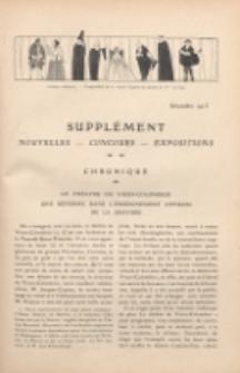 Art et décoration : revue mensuelle d'art moderne. 1913 Supleément Chronique, é