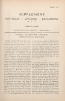 Art et décoration : revue mensuelle d'art moderne. 1911, Suppleément Chronique, janvier