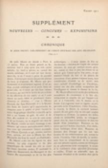Art et décoration : revue mensuelle d'art moderne. 1911, Suppleément Chronique, février