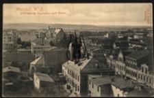 Wejherowo / Neustadt W.- P., Blick aus der Vogelschau nach Westen