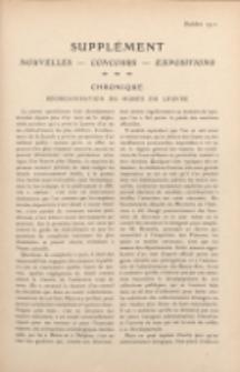 Art et décoration : revue mensuelle d'art moderne 1911. Supplément Chronique, octobre