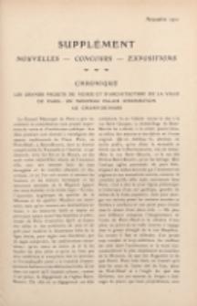 Art et décoration : revue mensuelle d'art moderne 1911. Supplément Chronique, novembre