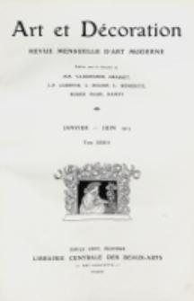 Art et décoration : revue mensuelle d'art moderne 1913, tome XXXIII, janvier-juin