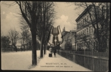 Wejherowo / Neustadt W.-Pr., Lauenburgerstrasse nach dem Bahnhof zu