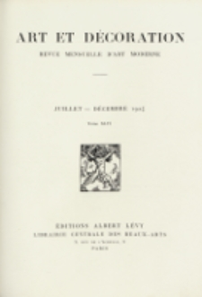 Art et décoration : revue mensuelle d'art moderne 1924, tome XLVI, juillet-décember
