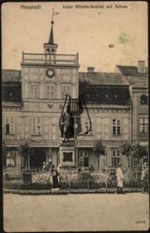 Wejherowo / Neustadt, Kaiser Wilhelm-Denkmal und Rathaus