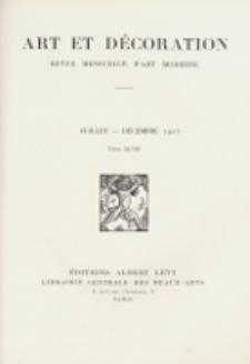 Art et décoration : revue mensuelle d'art moderne 1925, tome XLVIII, juillet-décember