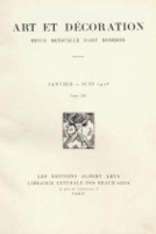 Art et décoration : revue mensuelle d'art moderne. 1928, tome LIII, janvier-juin