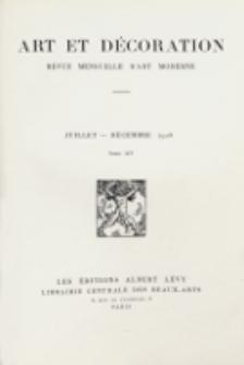 Art et décoration : revue mensuelle d'art moderne 1914, tome XXXV, janvier-juin