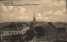 Wejherowo / Neustadt Wpr., Schonwaldestrasse mit Landratsamt, evang.Kirche u. Leonium
