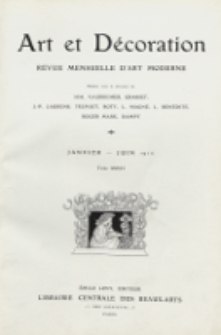 Art et décoration : revue mensuelle d'art moderne 1910, tome XXVII, janvier - juin
