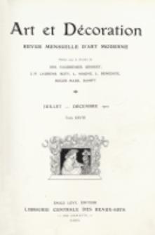 Art et décoration : revue mensuelle d'art moderne 1910, tome XXVIII, juillet-décembre