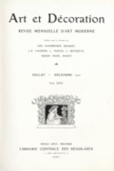 Art et décoration : revue mensuelle d'art moderne. 1912, tome XXXII, juillet-décembre