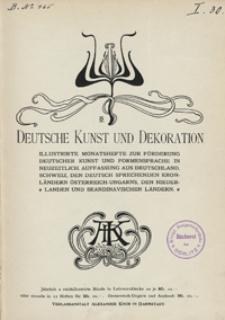 Deutsche Kunst und Dekoration 1898
