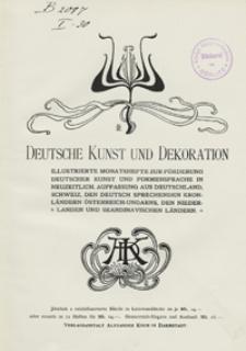 Deutsche Kunst und Dekoration 1904/1905
