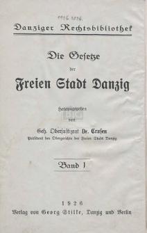 Führer durch die Danziger Gesetzgebung