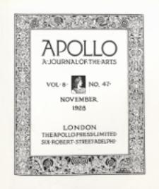 Apollo a Journal of the arts. 1928, Vol. 8, No 47 November