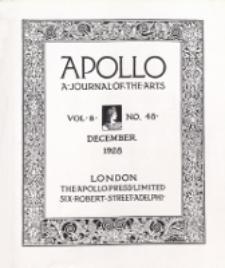 Apollo a Journal of the arts. 1928, Vol 9, No 48 December