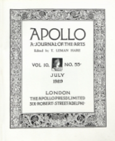 Apollo a Journal of the arts 1929