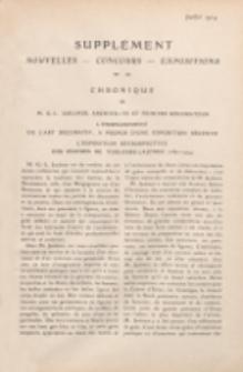 Art et décoration : revue mensuelle d'art moderne 1914. Suppément Chronique, juillet