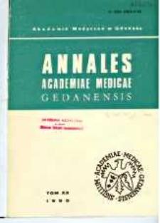 Annales Academiae Medicae Gedanensis, 1990, t. 20