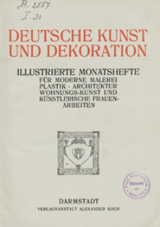 Deutsche Kunst und Dekoration 1908
