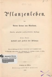 Pflanzenleben. Bd. 1, Gestalt und Leben der Pflanze