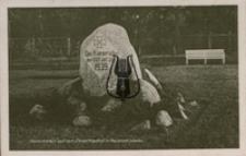 Wejherowo / Neustadt Wpr., Gedenkstein auf dem Ehrenfriedhof in Neustast, Westpr.