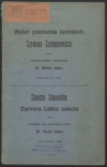 Wybór poematów łacińskich