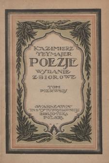 Poezje : wydanie zbiorowe. T. 1