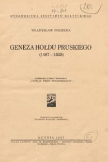 Geneza hołdu pruskiego (1467-1525)