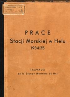 Prace Stacji Morskiej w Helu 1934/35