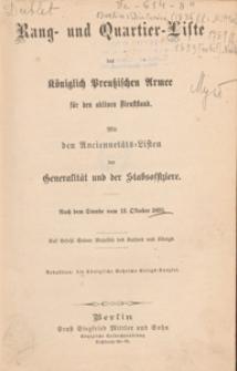 Rang- und Quartier-Liste der Königlich-Preussischen Armee fur 1893
