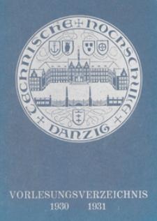 Programm : für das Studienjahr 1930-1931