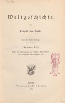 Weltgeschichte. T. 7, Höhe und Niedergang des deutschen Kaiserthums : die Hierarchie unter Gregor VII