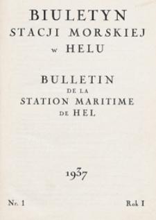 Biuletyn Stacji Morskiej w Helu 1937