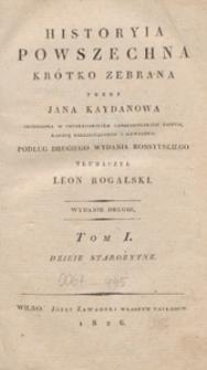 Historyia powszechna krótko zebrana. T. 1